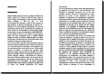 Bertrand Badie et le déclin de l'Etat