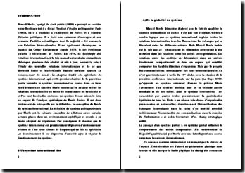 Marcel Merle et sa conception du systéme international
