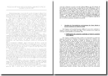 Commentaire de l'arrêt rendu le 6 février 1997par la chambre criminelle