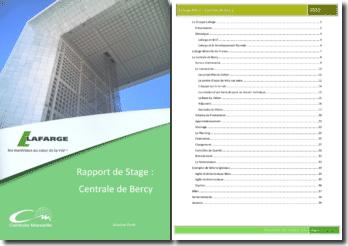 Rapport de stage: Lafarge Béton