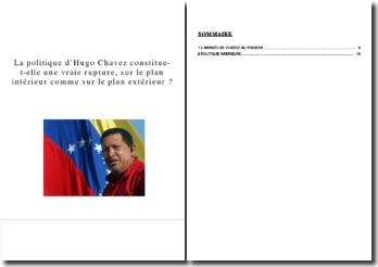 La politique d'Hugo Chavez constitue-t-elle une vraie rupture, sur le plan intérieur comme sur le plan extérieur ?