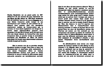 Commenter Causerie,le poème de Charles Baudelaire