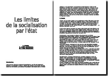 Les limites de la socialisation par l'état