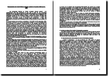 Commentaire de l'arrêt CJCE, 13 janvier 2004