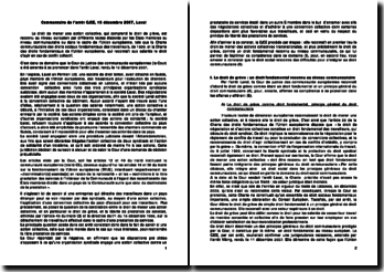 Commentaire de l'arrêt Laval, 18 décembre 2007