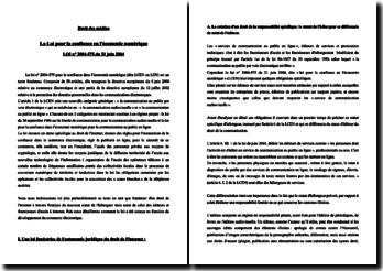 Loi pour la Confiance en L'Economie Numérique