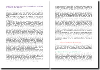 Commentaire de l'arrêt rendu par la 1ère chambre civile de la cour de cassation le 16 mars 2004