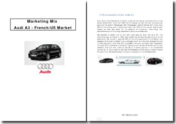 Marketing Mix Audi A3 - French/US Market