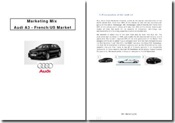 Marketing Mix Audi A3 - French/US Market
