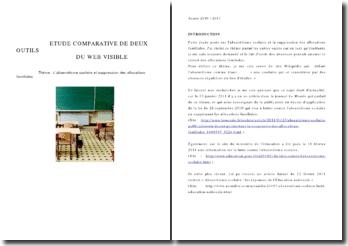 Etude comparative de deux outils du web visible