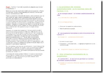 article 11C. et révision constitutionnelle.