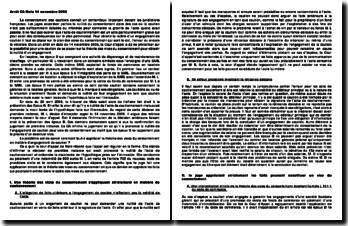 Commentaire Arrêt CA Metz 14 novembre 2006