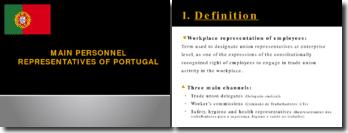MAIN PERSONNEL REPRESENTATIVES OF PORTUGAL