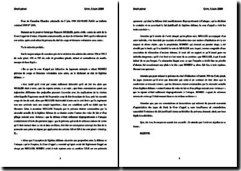 Chambre criminelle du 5 juin 1984 - Muller