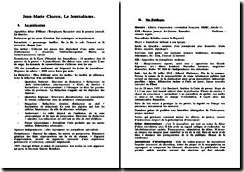Le Journalisme par Jean-Marie Charron