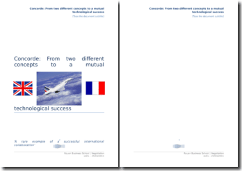 Concorde: Two different concepts