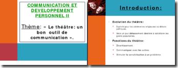 Le théâtre: un bon outil de communication