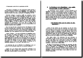 Commentaire - article 19, constitution de 1958.
