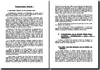 Commentaire CE, 16 décembre 1999, Société Aubettes