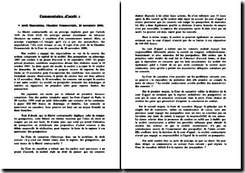 Arrêt Manoukian, Cass., Com., 26 novembre 2006