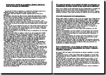Commentaire arrêt 25/05/2005