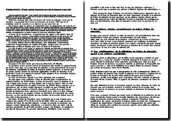 Commentaire d'arrêt 9 mars 1993: