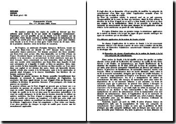 Commentaire d'arrêt 20 mars 1986 - Caron