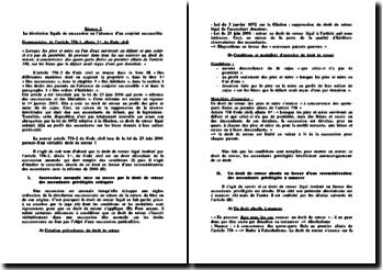 Commentaire d'article 738-1 Code civil