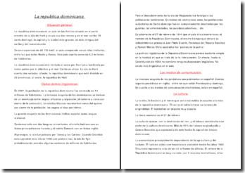 Exposé République dominicaine