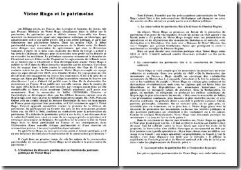 Victor Hugo et le patrimoine