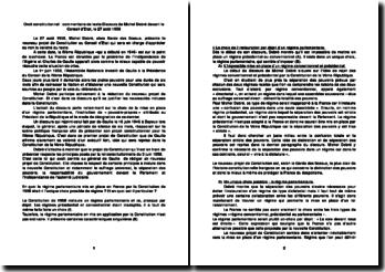 Discours de M. Debré (le 27 août 1958)