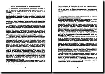 Commentaire d'arrêt Ass. Plén. 21 décembre 2006