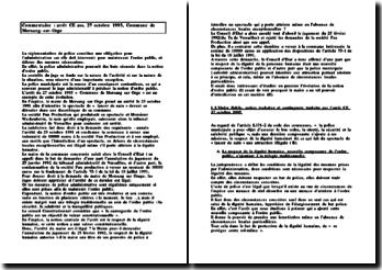 Commentaire arrêt : Commune de Morsang-sur-Orge