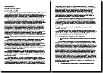 Cour de cassation Pacte de préférence