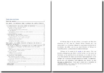 Mémoire Banquier et conflit d'intérêts