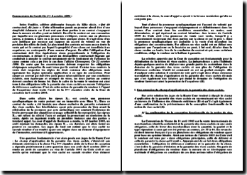 Commentaire d'arrêt Civ 3ème du 6 octobre 2004