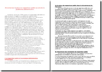 dissertation rapporteur public et procès équitable