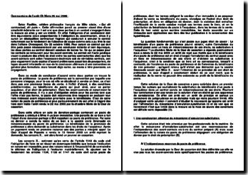 Commentaire d'arrêt Chambre Mixte du 26 mai 2006 - consécration du mécanisme d'annulation-substitution et limites d'application