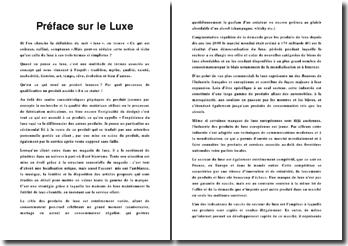 Préface : Le Luxe