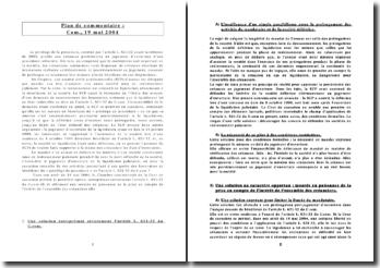 Privilège de procédure-com,19 mai 2004