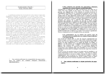 sûreté sur créance et monnaie-com,6 févr 2007
