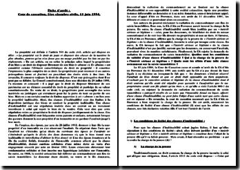 Commentaire d'arrêt : Cour de cassation, 1ère chambre civile, 15 juin 1994