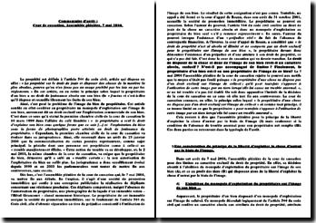 Commentaire d'arrêt : Cour de cassation, Assemblée plénière, 7 mai 2004