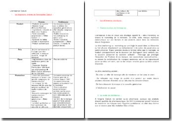 L'entreprise Cadum: diagnostic interne, stratégies et plan média