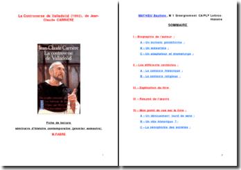 Fiche de lecture: La controverse de Valladolid de Jean-Claude Carrière
