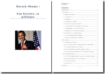 Obama: son histoire, sa politique