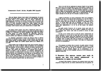 Conseil d'Etat Assemblée 10 juillet 1996 Cayzeele