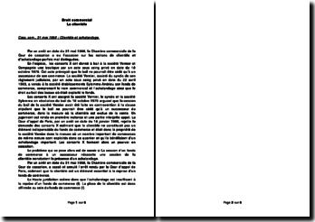 Commentaire d'arrêt 31 mai 1988 : la clientèle.