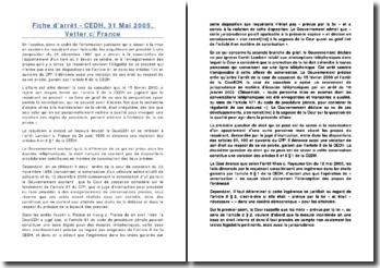 CEDH, 31 Mai 2005, Vetter c/ France