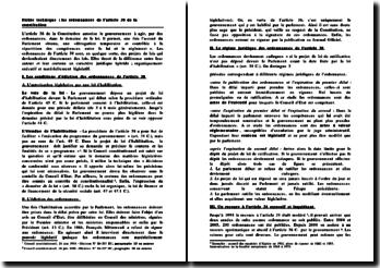 les ordonnances de l'article 38